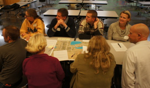 Meadows Park community meeting, small group discussion